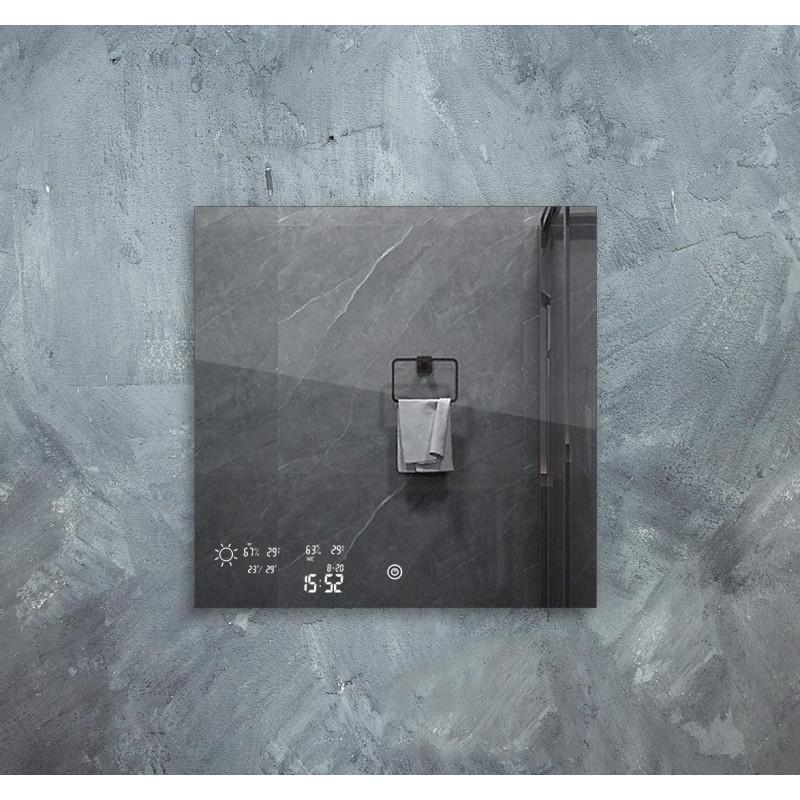 Chytré infra topné zrcadlo 60x60cm 200W s LED osvětlením 10W