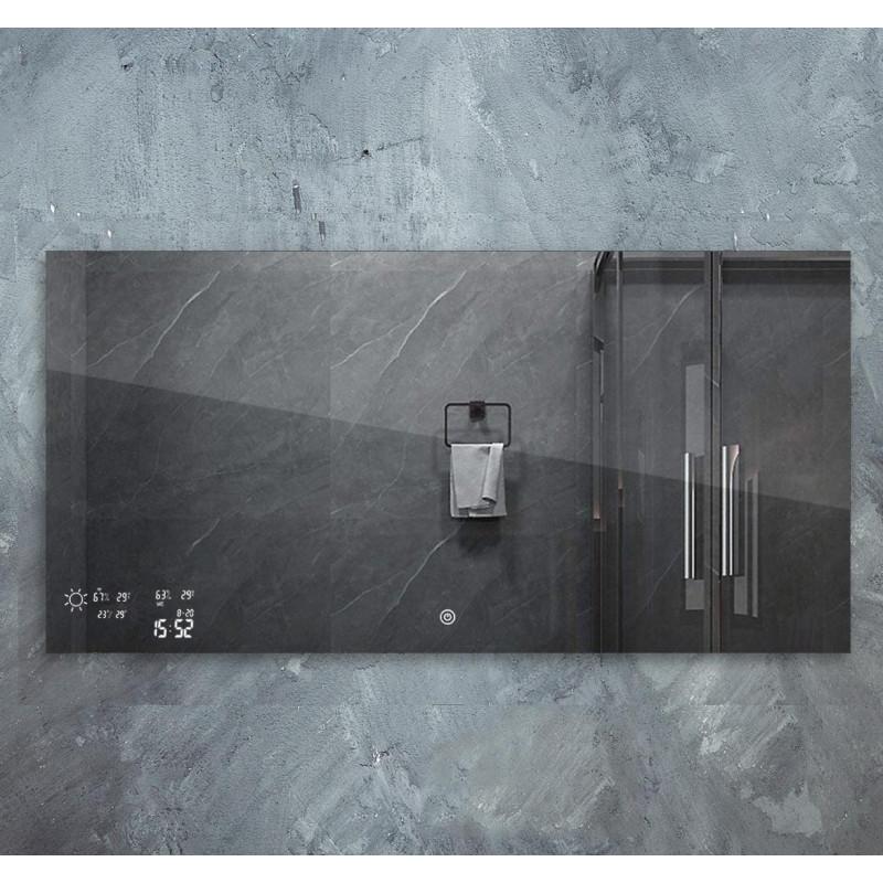 Chytré infra topné zrcadlo 120x60cm 500W s LED osvětlením 15W