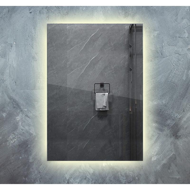Infra topné zrcadlo 60x100cm 580W s LED osvětlením 13W